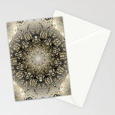 Gilded Nouveau Mandala Stationery Cards