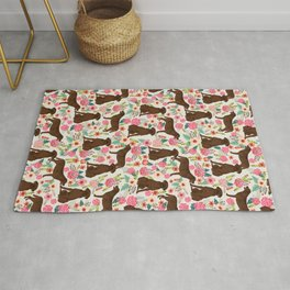 Labrador Retriever florals chocolate lab cute pet gifts must have labrador florals Rug