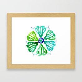 Ethnic circle of peace Framed Art Print