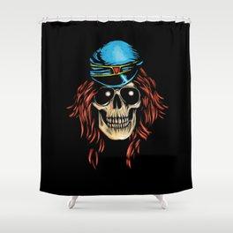 Axl Skull  Shower Curtain