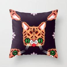 Lil Bub Geometric Pattern Throw Pillow
