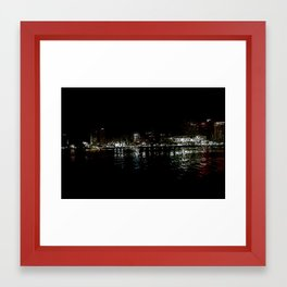 nola ferry view Framed Art Print
