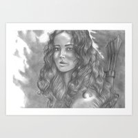 katniss Art Prints featuring Goodbye by ombradellaluna