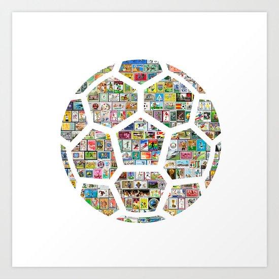 Philately Soccer Ball by rubenberrocal