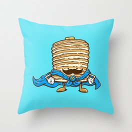 Captain Pancake's Mustache Throw Pillow