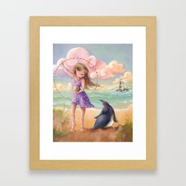 Z imagination Felicity and Fritz, Orphic Wanderers Framed Art Print