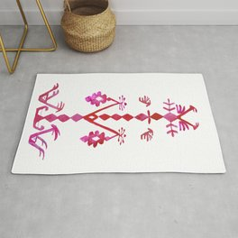 Ethnic Kilim Pattern Tree of Life Rug