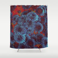 vintage floral Shower Curtains featuring Floral Vintage by Christine Aylen