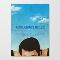 ferris bueller Canvas Prints featuring Ferris Bueller' Day Off by Tommaso Valsecchi