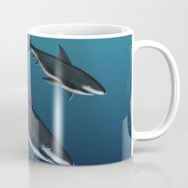 Three Sharks Dive Deep Coffee Mug