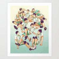 viria Art Prints featuring Aobajousai by viria