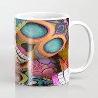 sugar skulls Mugs featuring sugar skulls by wet yeti
