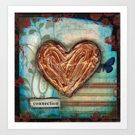 I heart connection Art Print