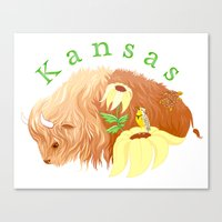 kansas Canvas Prints featuring Kansas by Fawn