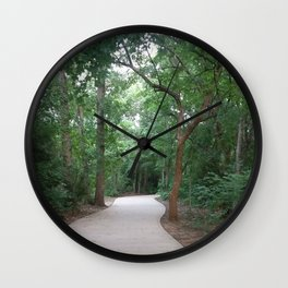 I just felt like running. (no text) Wall Clock