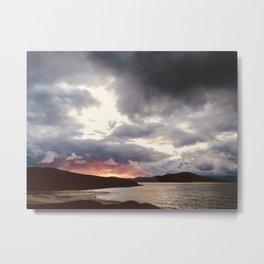 Hebridean Sunset Metal Print