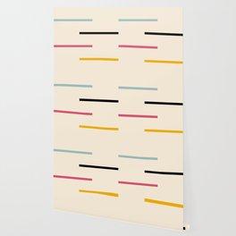 Abstract Minimal Retro Stripes Acro Wallpaper