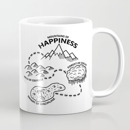 Motivational Map to Mountains of Happiness Coffee Mug