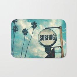 Surfing Sign Bath Mat