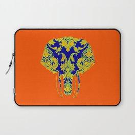 Elephant head damasks thermal color Laptop Sleeve