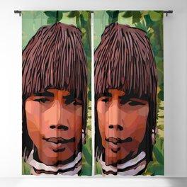 Earth Mother After Rousseau Modern Vector Art Blackout Curtain