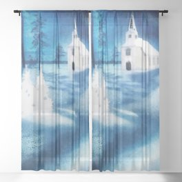 Christmas Serenade Sheer Curtain