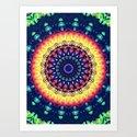Colorful Flower Mandala by perkinsdesigns