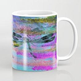 Mauritius Vintage Dragonflies Colours B Coffee Mug