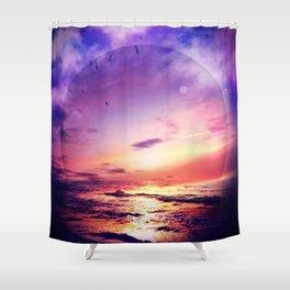Neon Beach Shower Curtain