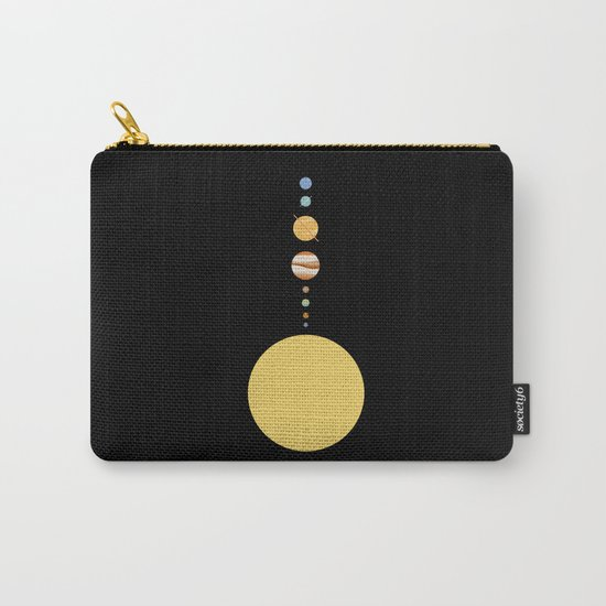 Minimal Solar System Carry-All Pouch