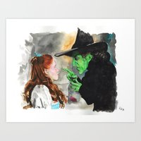oz Art Prints featuring Oz by jgart