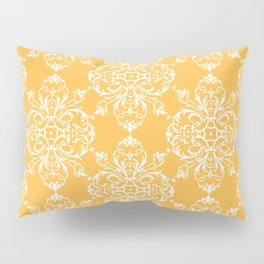 Yellow Retro Damask Pillow Sham