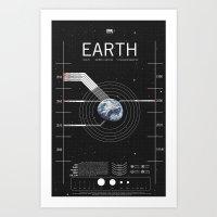 OMG SPACE: Earth 1950 - 2000 Art Print