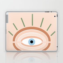 Retro evil eye - neutrals Laptop & iPad Skin