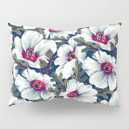 New Zealand Hibiscus Floral Print (Night) Pillow Sham