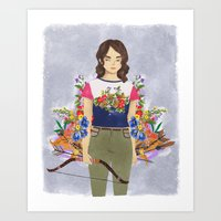 allison argent Art Prints featuring Allison Argent, tribute by amanda herzman