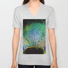 Fascinating Majestic Shining Glitter Chrystal Ball Ultra HD Unisex V-Neck