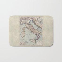 Bella Italia Vintage Map Of Italy Bath Mat