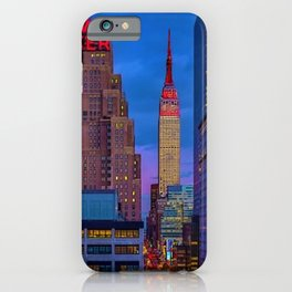 The New Yorker, 481 8th Ave, New York, NY, A Portrait by Jeanpaul Ferro iPhone Case