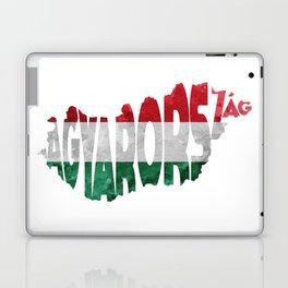 Magyarország World Map / Hungary Typography Flag Map Art Laptop & iPad Skin