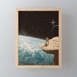 Edge of the world Framed Mini Art Print