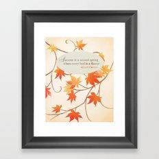 Autumn Leaves are like Flowers Framed Art Print