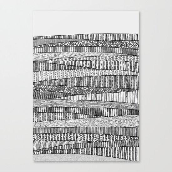 Fields in B&W Canvas Print