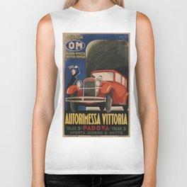 Vintage poster - Autorimessa Vittoria Biker Tank