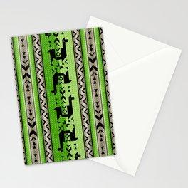 Llamas_Green and WarmGray Stationery Cards
