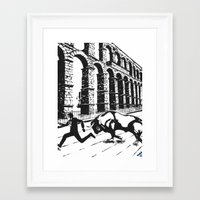 spain Framed Art Prints featuring Spain by Carolyn Campbell