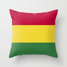Bolivia flag emblem Throw Pillow