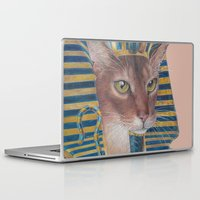 egyptian Laptop & iPad Skins featuring Egyptian Cat by Rachel Waterman