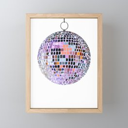 Let's Have a Disco Ball Framed Mini Art Print