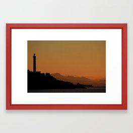 West Coast Sunset Framed Art Print